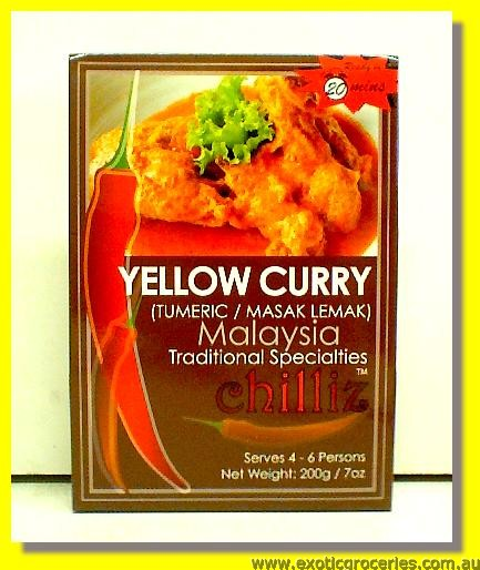 Yellow Curry Paste (Tumeric/ Masak Lemak)