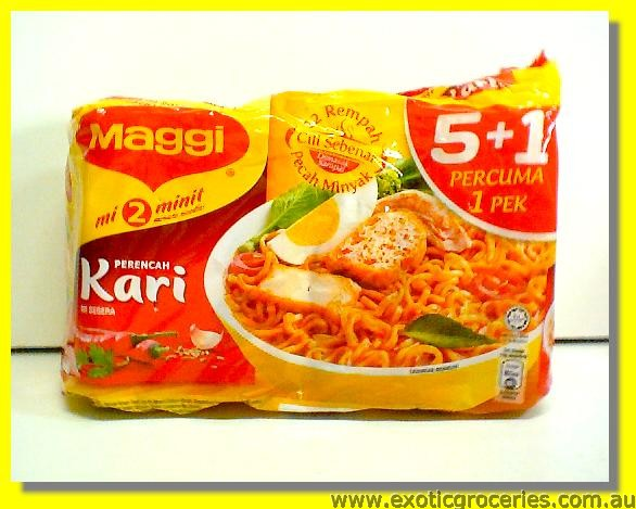 Instant Noodle Curry Flavour 5+1packs