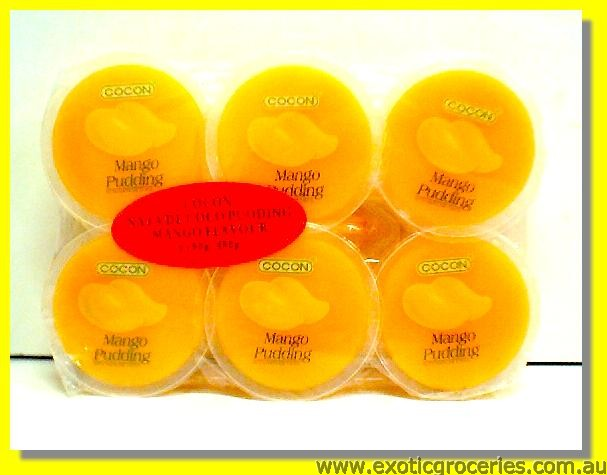 Mango Pudding with Nata De Coco 6pcs