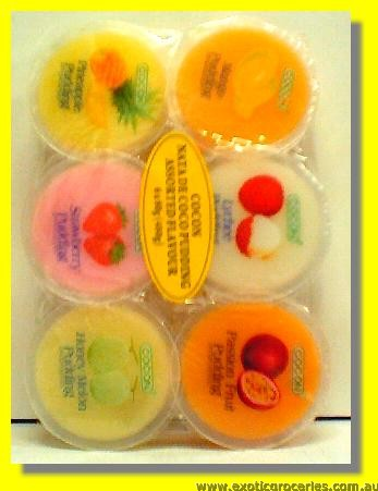 Assorted Flavour Nata De Coco Pudding 6pcs
