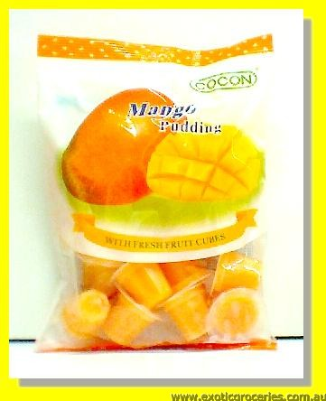 Mango Pudding with Fresh Fruit Cubes