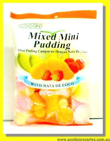 Mixed Milk Pudding with Nata De Coco