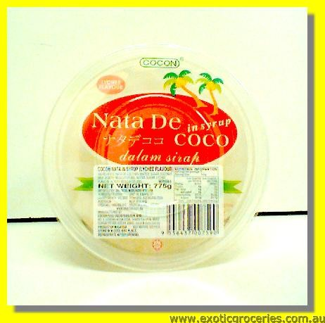 Lychee Flavour Nata De Coco in Syrup