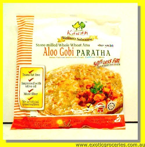 Aloo Gobi Paratha (Stone Milled Whole Wheat Atta) 3pcs