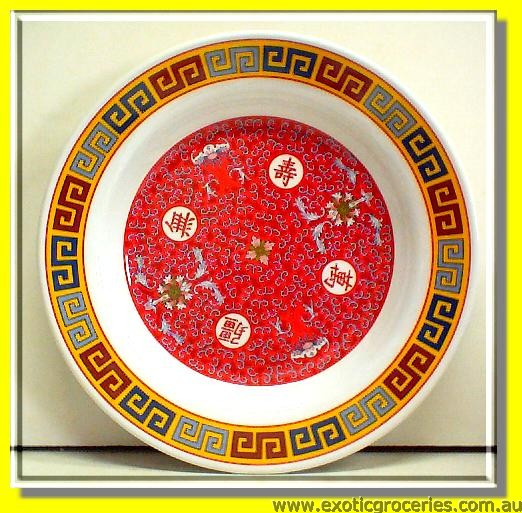 "9"" Red Long Life Melamine Plate"