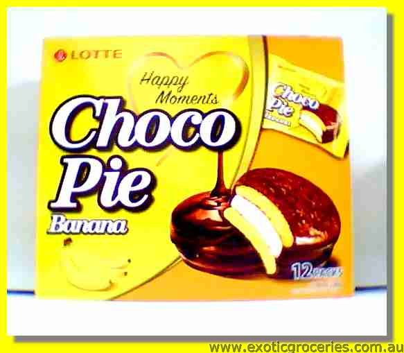 Choco Pie Banana Flavour 12packs