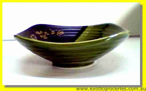 Japanese Style Green Ceramic Square Bowl 18cm