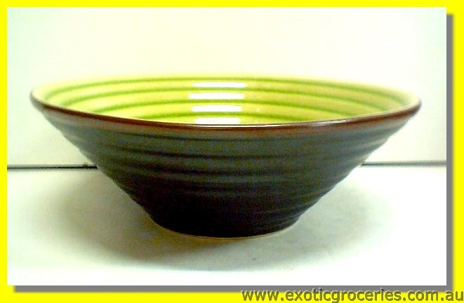 Japanese Style Green Bowl 8""