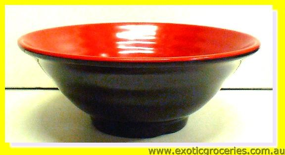 "Melamine Soup Bowl Red and Black  8.5"" (5408)"