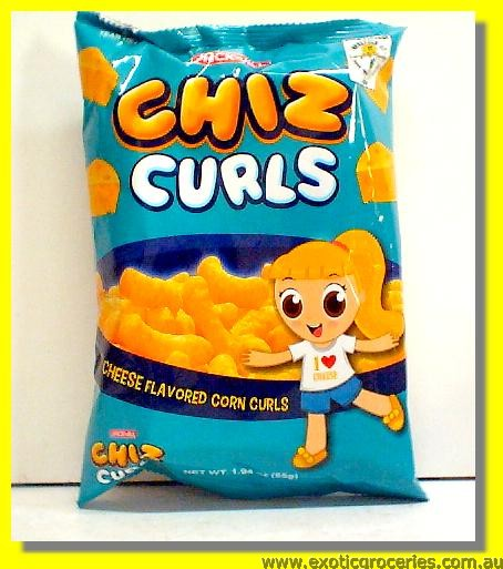 Chiz Curls (Cheese Flavored Corn Curls)