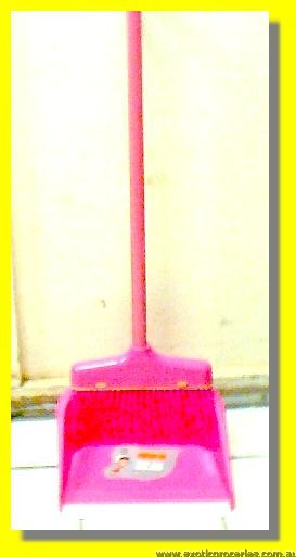 Broom with Dust Pan Set