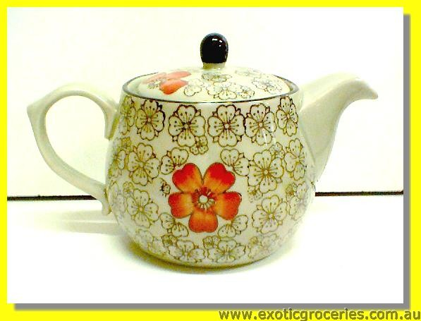 Japanese Style Red Blossom Teapot