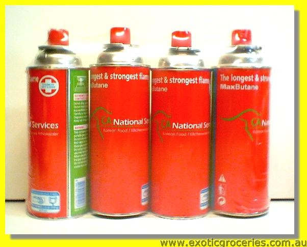 Butane Gas Cartridges 4pcs