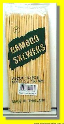 "Bamboo Skewers 8"" 200mm"
