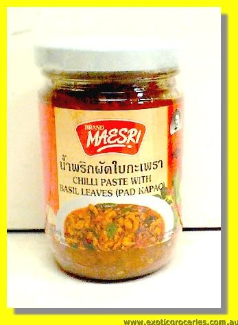 Chilli Paste With Basil Leaves (Pad Kapao)
