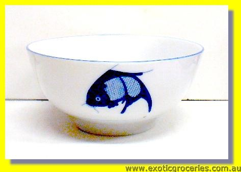 Blue Fish Bowl 17.5cm