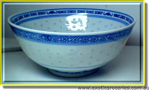 "7"" Bowl Blue Rice Pattern"