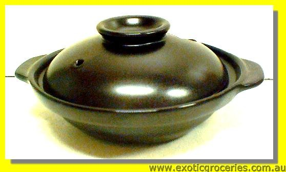 2 Handle Clay Pot Black 15CM QK1642 (#3)