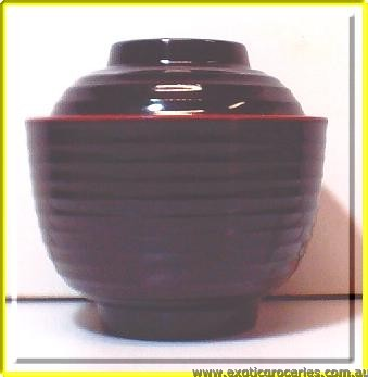 Black Bowl with Lid 10cm