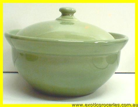 "Green Bowl with Lid 6.5"" ST001/7"""