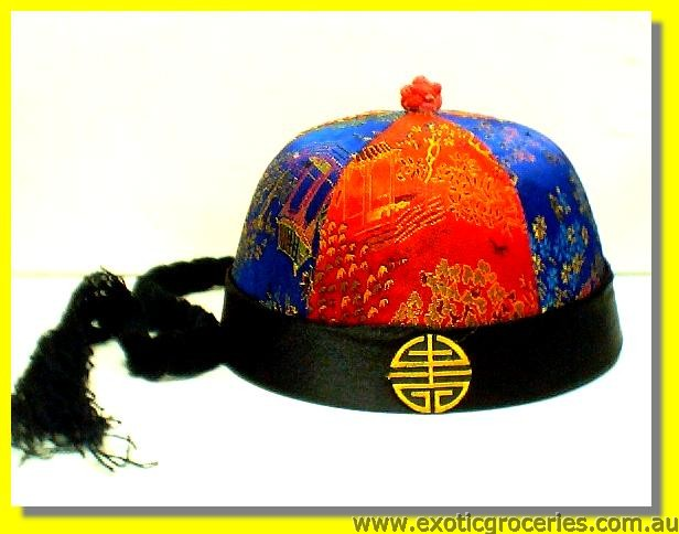 Chinese Cap with Pigtail