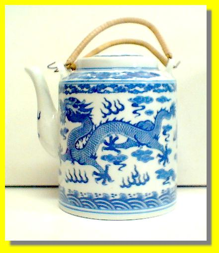 Blue Dragon Tall Teapot