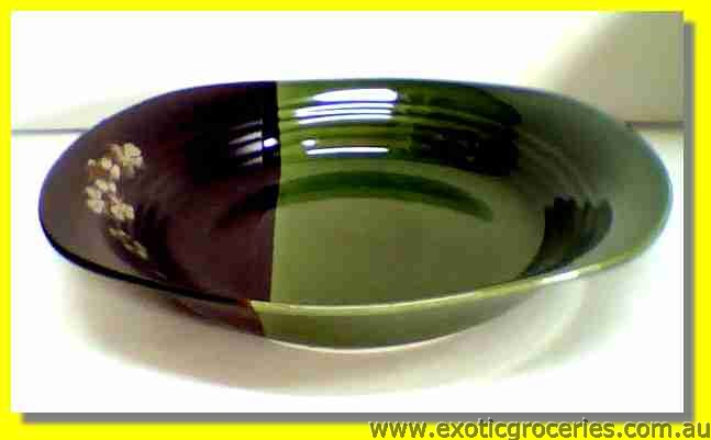 Japanese Style Green Oval Plate 23cm