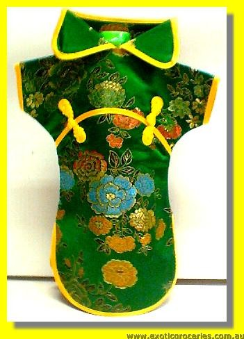 Chinese Green Embroidery Bottle Clothes 30CM H