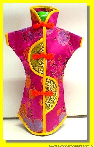 Chinese Embroidery Purple Bottle Clothes for Wine 30 CM