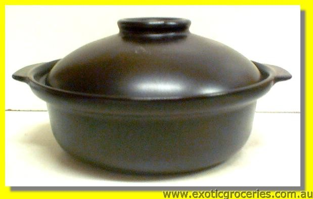 2 Handle Clay Pot Black 25CM QF2687 (2.5L)